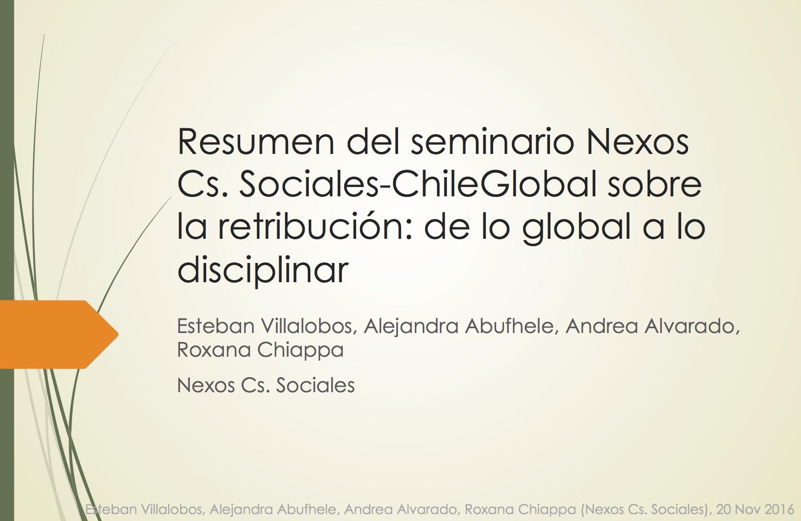 Resumen del Seminario sobre la Retribución: de lo Global a lo Disciplinar