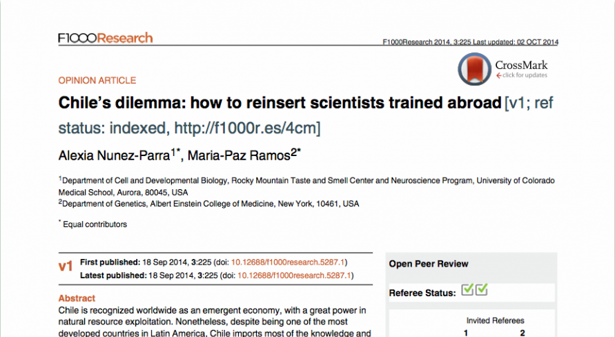 Chile's dilemma: how to reinsert scientists trained abroad